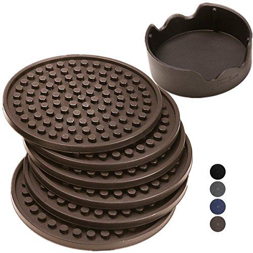 ENKORE-Coasters-Holder-Espresso-Brown