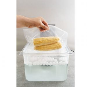 Sous vide cooking of corncobs