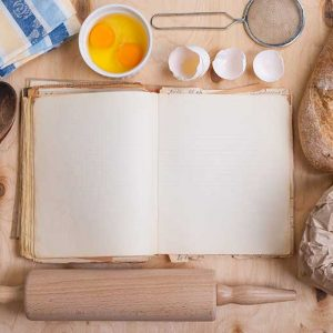 , eggshell, flour, rolling– stock image Baking background with blank cook book, eggshell, flour, rolling — Stock Photo #63197527 Baking light warm background with blank cook book, cutting board, eggshell, bread, flour, rolling pin. Vintage wood table from above. Rustic background with free text space